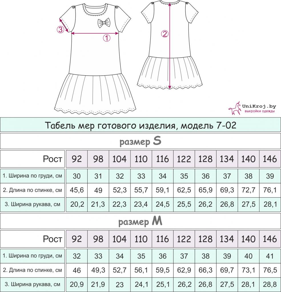 выкройка деское платье скачать